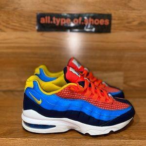 Nike Air Max 95 Now GS Crimson Blue Woman Size 5